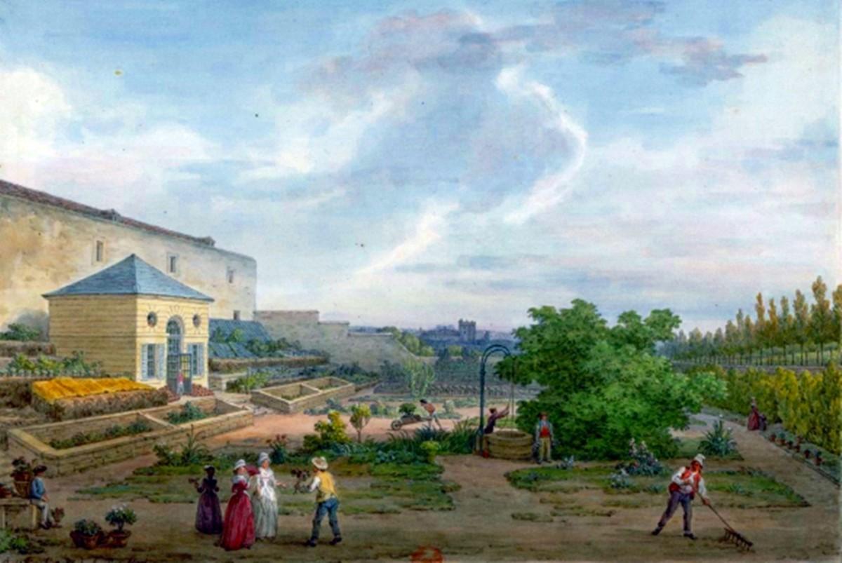 Le Jardin du Roy , painted by Jean-Baptiste Hilair, in 1794