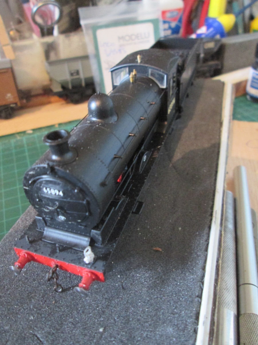 Oxford Rail's J27 with early 'cycling lion' emblem I renumbered to 65894 ... See the model section at the foot of the page