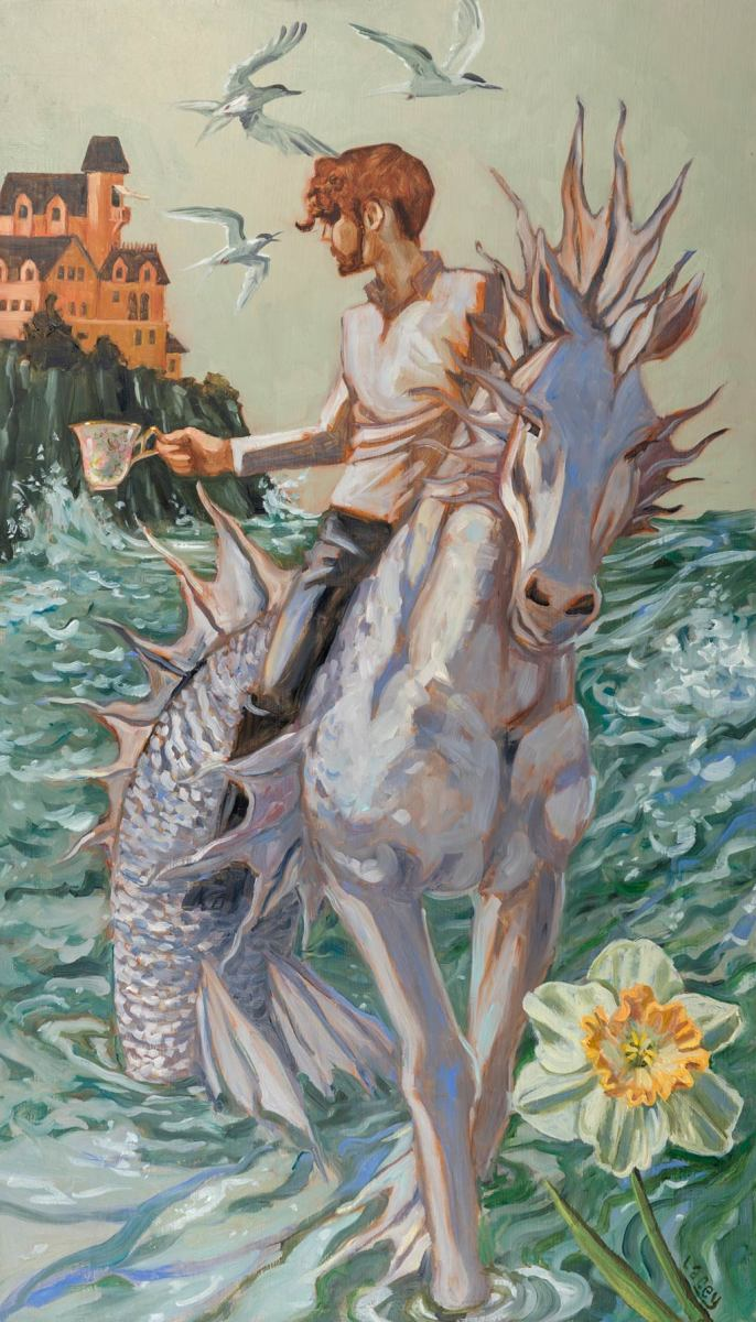 The Knight of Cups is a positive card. In the upright position, it indicates someone who is disciplined, amicable, and compassionate. Even if they're not your romantic partner, they're a good person to have in your company. They inspire you.