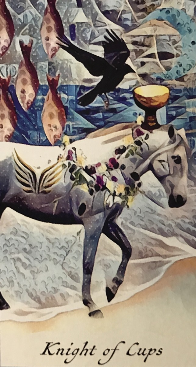 The Knight of Cups is first and foremost in an excellent relationship with himself. Because of this, he can also be in a great relationship with someone else.