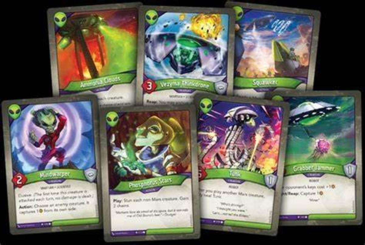 Mars cards in Keyforge