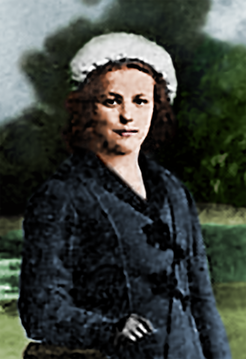 Nina Petrova. Vladivostok, 1912. Edited and colorized by Alexander Derwinter