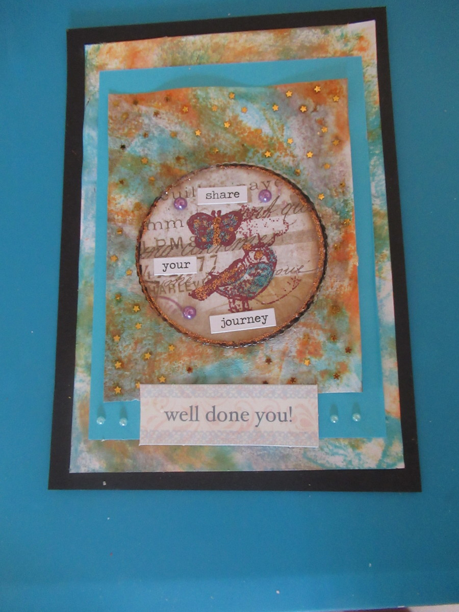 Create background paper for your cards, scrapbook paper, and art journals with the salt technique.