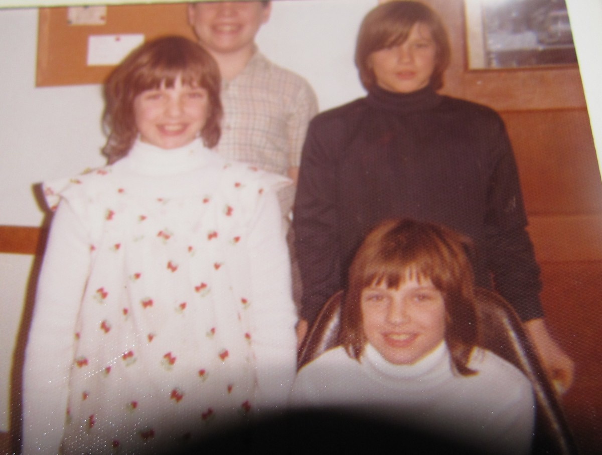 Dave pictured in upper right corner. We called him  'Cindy-Lou'  when he had long hair.