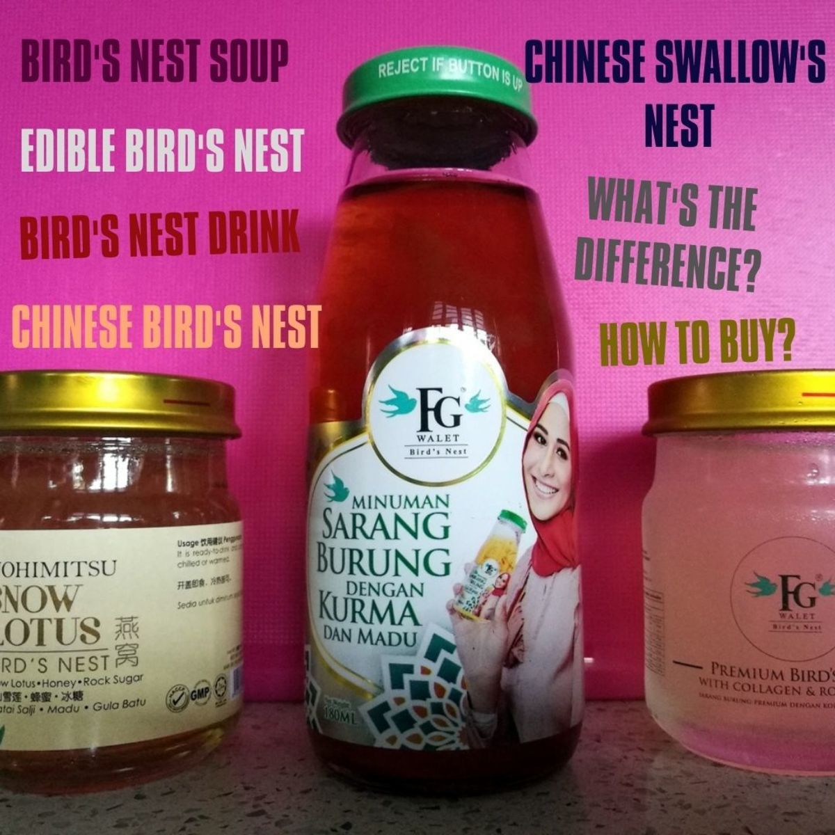 Edible Bird's Nest, Bird's Nest Soup, Bird's Nest Drink: What's the Difference? A Review