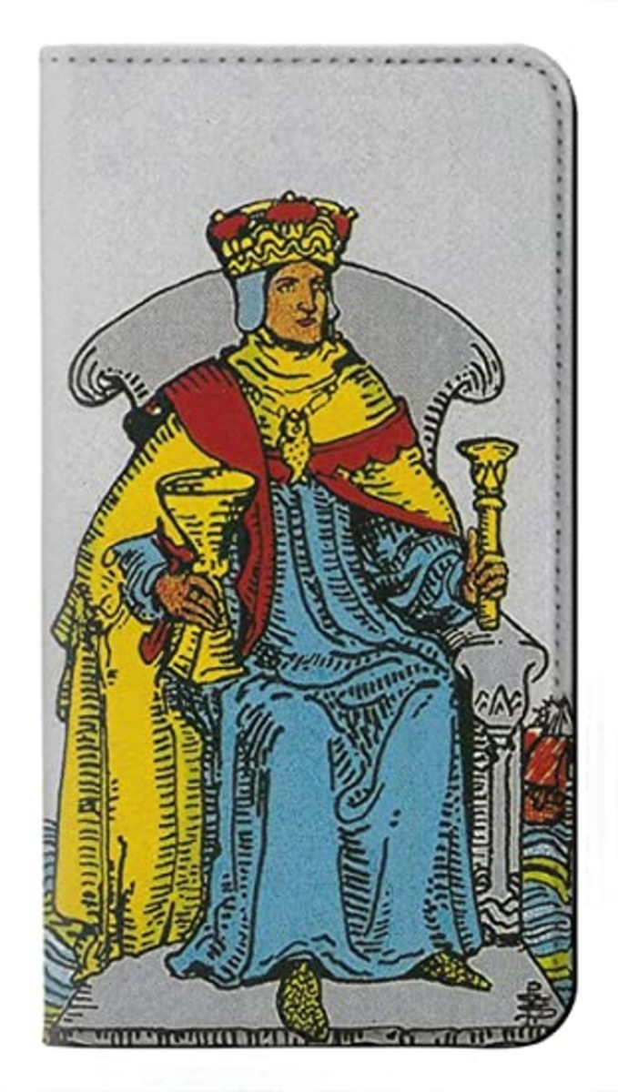 The King of Cups rules the element of water. He governs with compassion and grace. He is the perfect balance of air and water, thoughts and emotions.