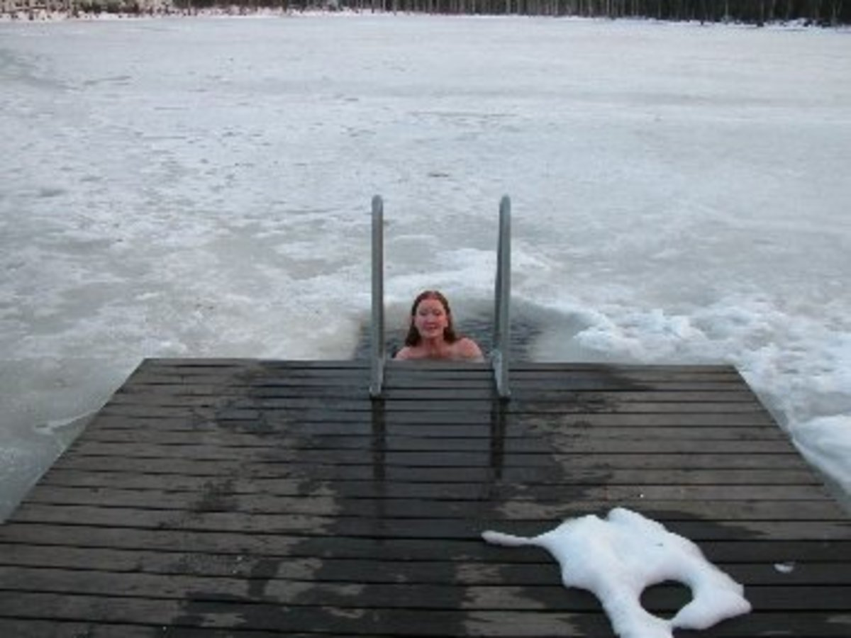 Taking A Dip Through The Ice During A Sauna