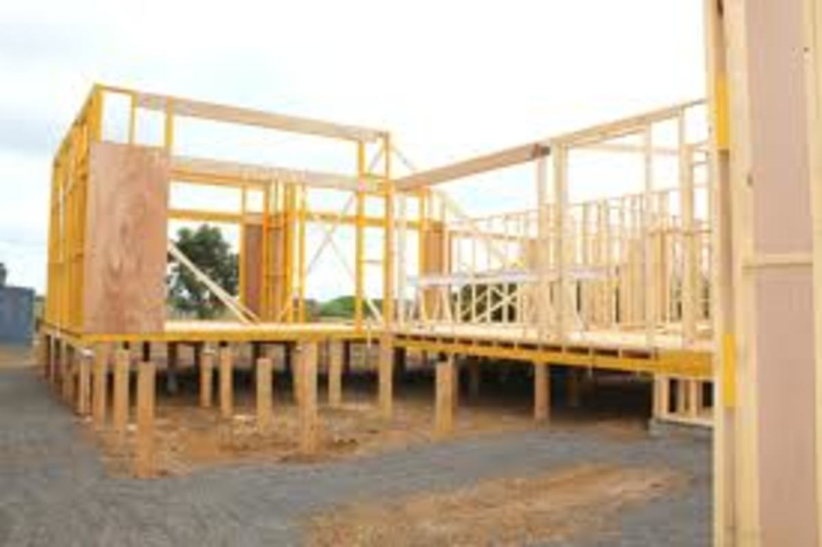 This is how most house on stumps look like during construction, this house may be set on timber stumps, but it is very much the same if the stumps were of concrete