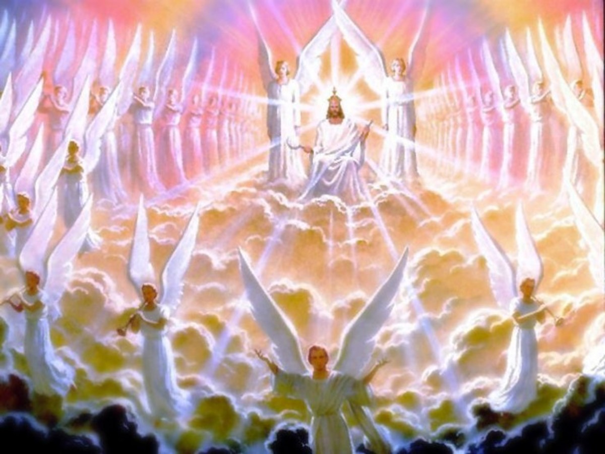 Angels of the realm of glory You, Angels of the realm of glory, You tell us about the eternal story, You tell us about the Creator glory You tell us the wonders of God's creation. - We all sing glory to God Most High. God's heavenly angles sing in th