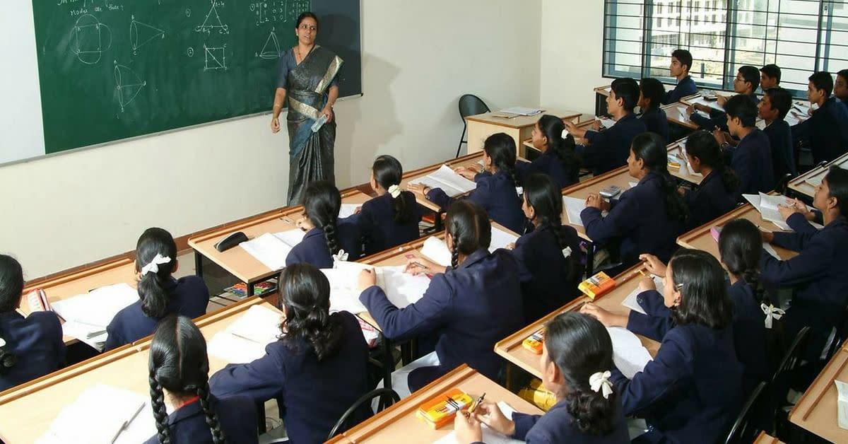A teacher conducting class