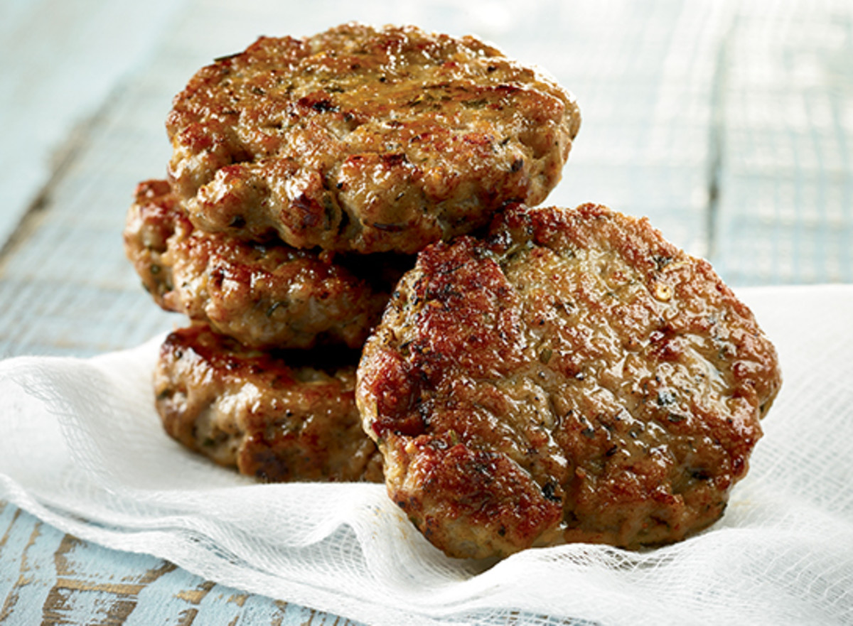 Delicious cold, pork sausage tastes even better in mom's cathead  biscuits.