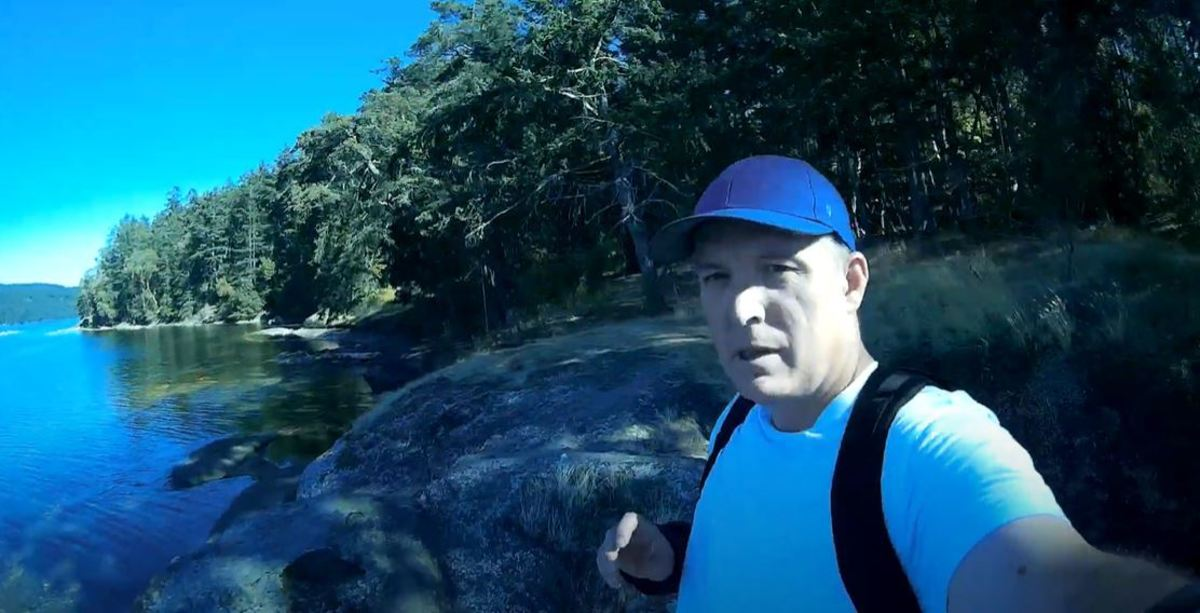 A still from a video taken at the end of the Cable Bay Trail on Vancouver Island.
