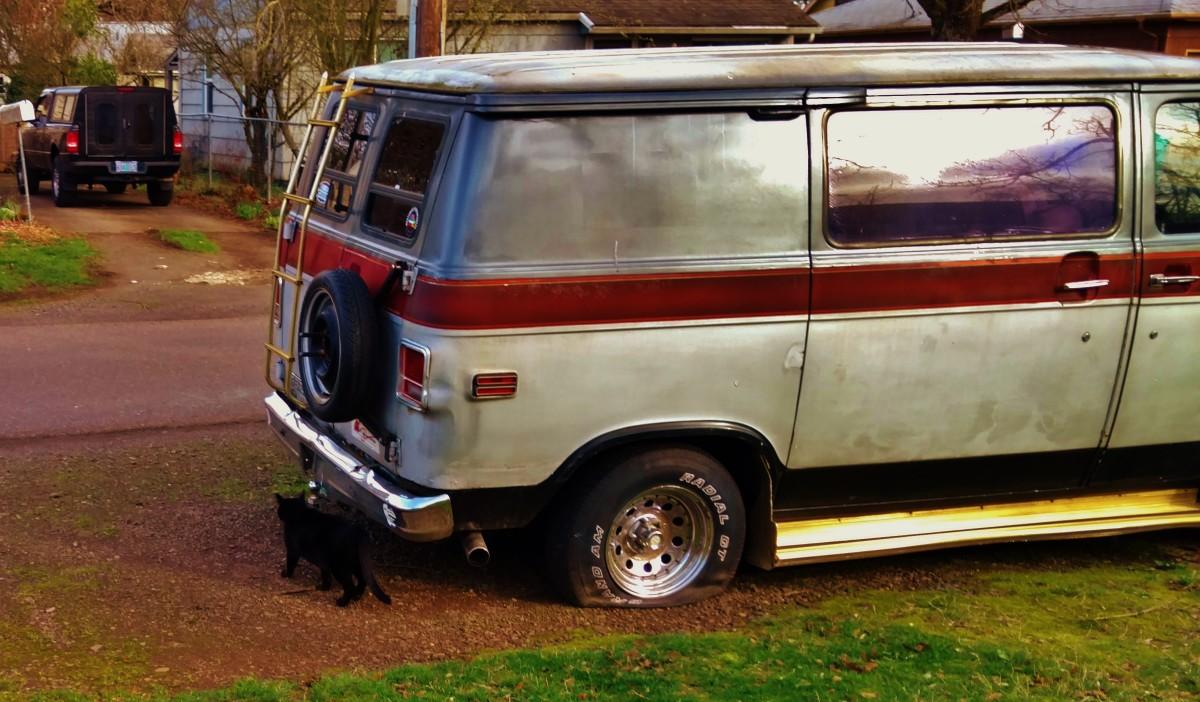Hanging around the old Chevy Van