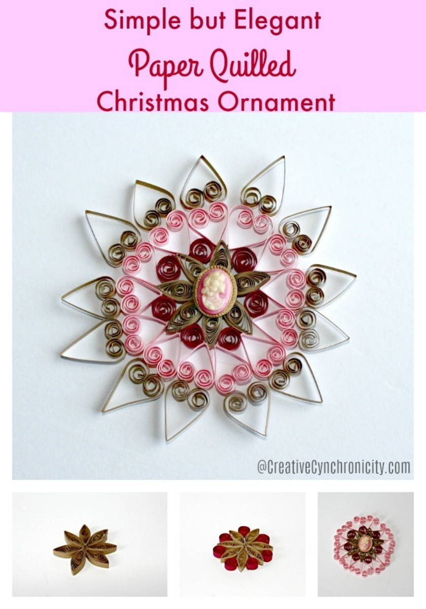 Anyone could create a ornament to hang on a tree with just a few easy steps