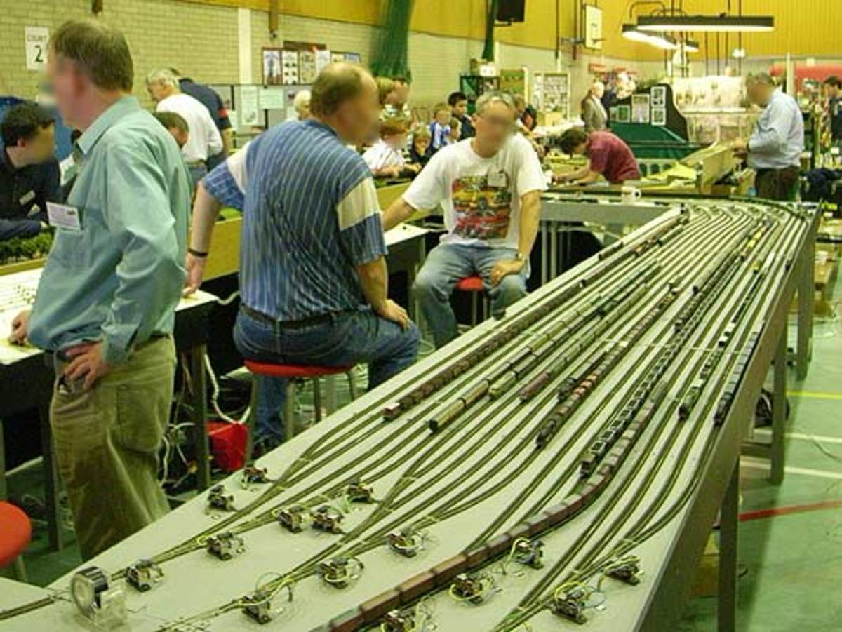 A model railway 'fiddleyard' to organise your trains before running them is a must