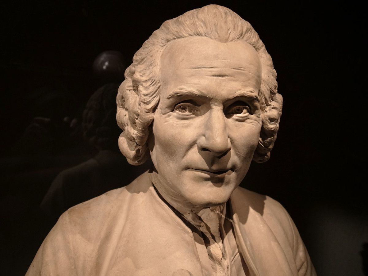 Jean-Jacques Rousseau (Sculpture in the Louvre by Houdon)
