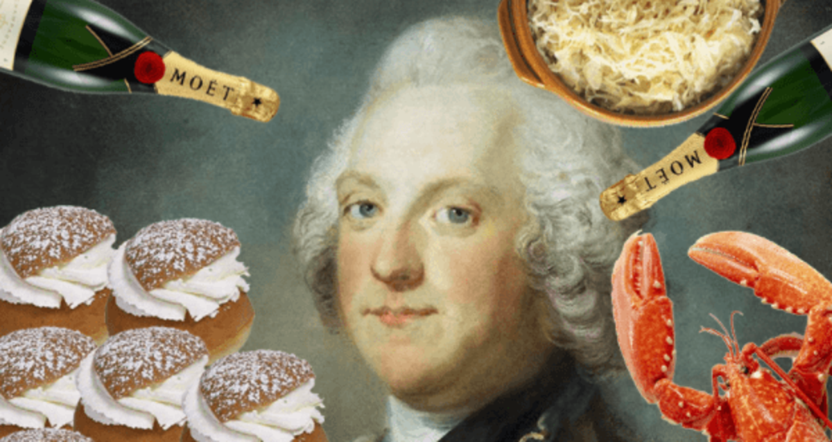 One of Adolf Frederick's greatest pleasures in life was eating, and he was addicted to gluttony by indulging in overeating even when full.