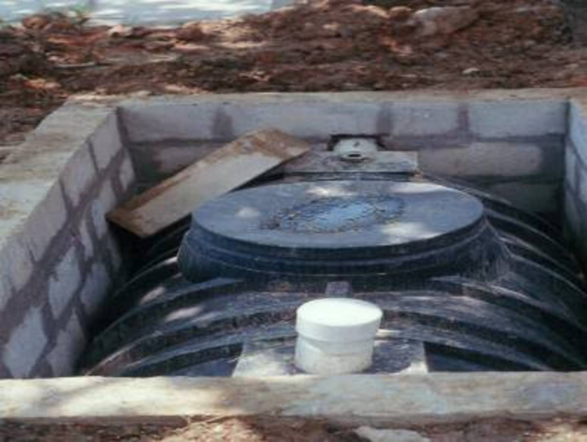 A typical plastic septic tank