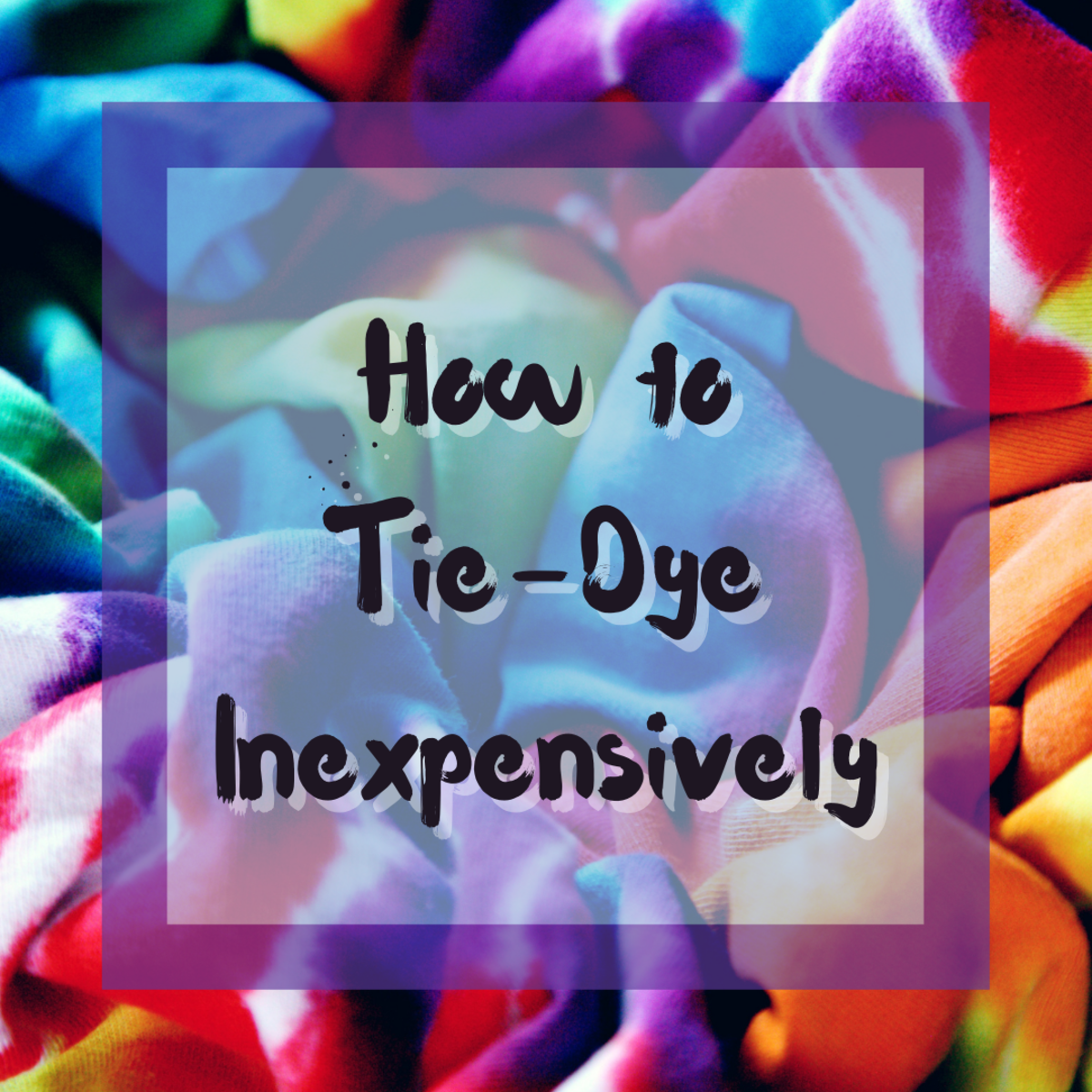 Learn everything you need to know about tie-dyeing inexpensively.