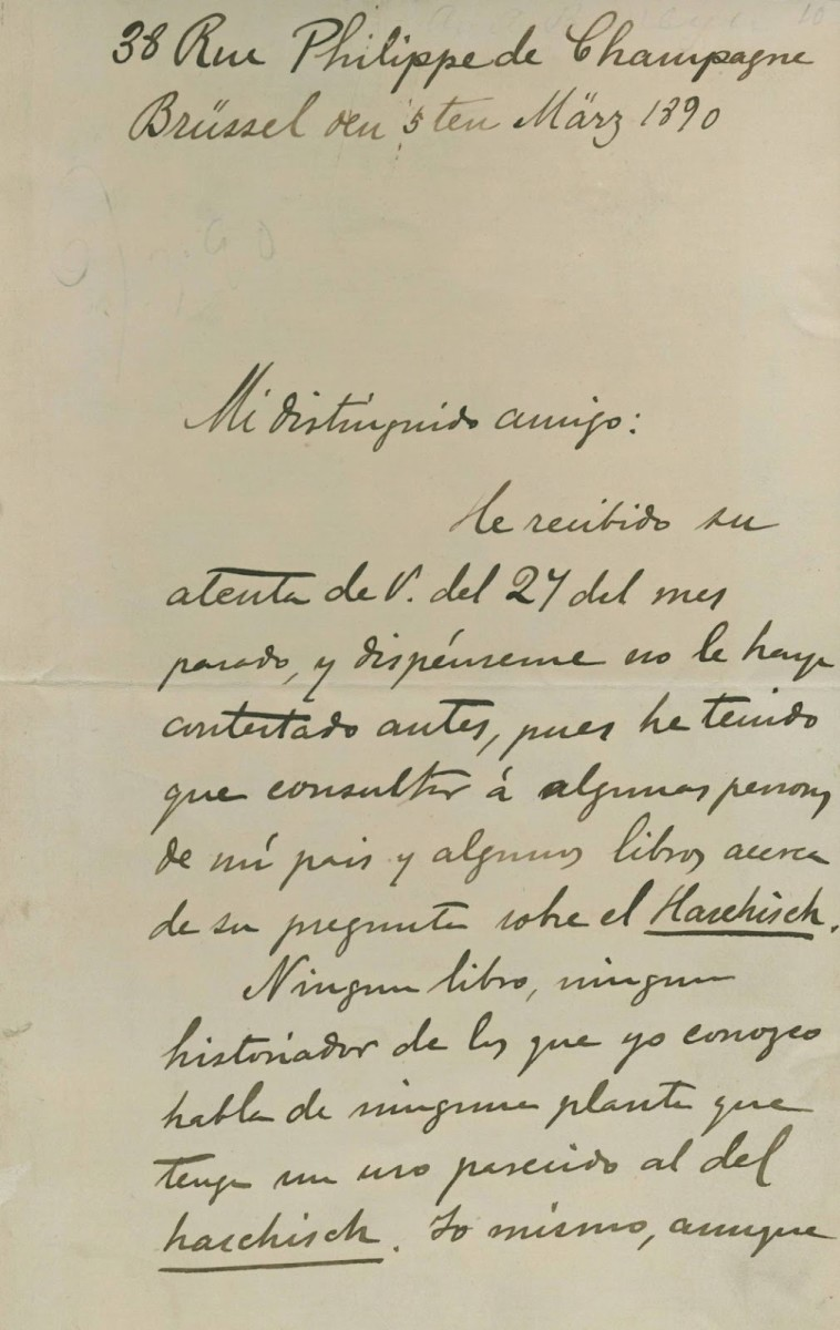 A portion of Rizal's letter to Meyer.