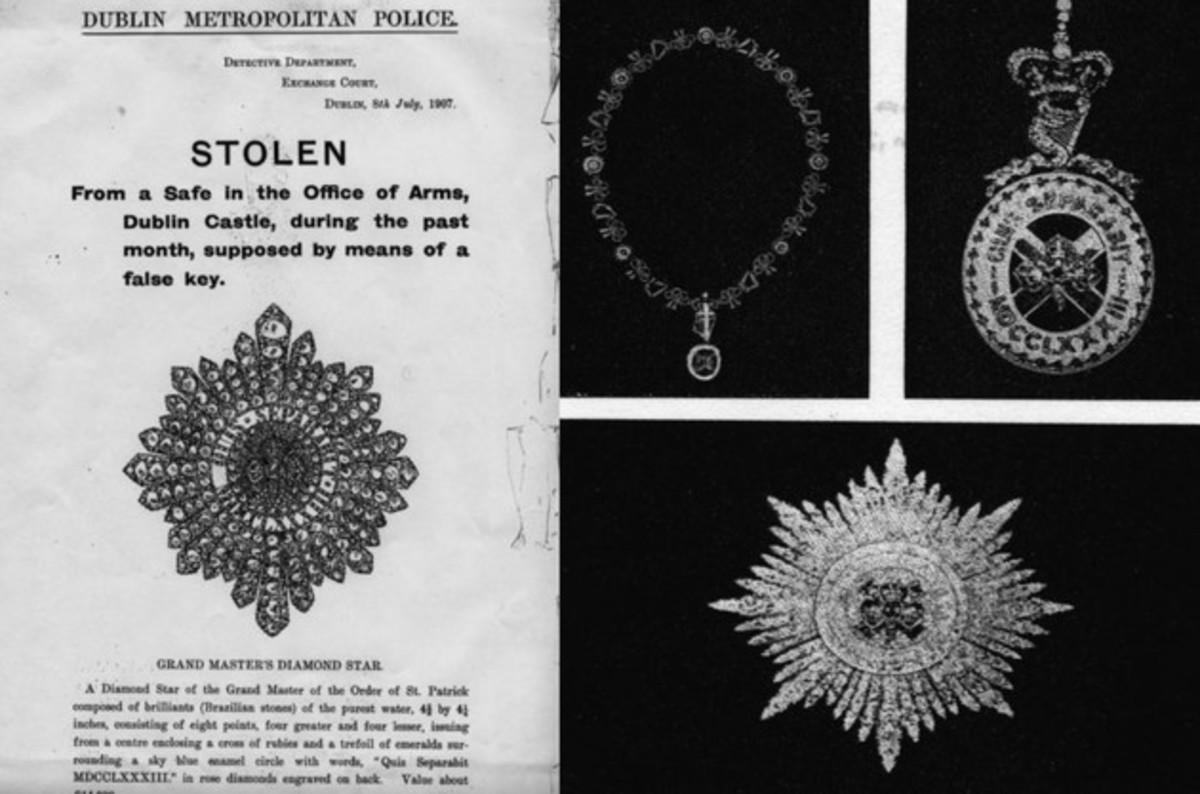 The Irish Crown Jewels Stolen.