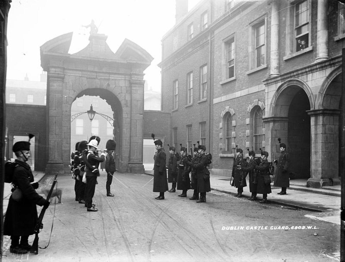 The guards at Dublin Castle circa 1905.