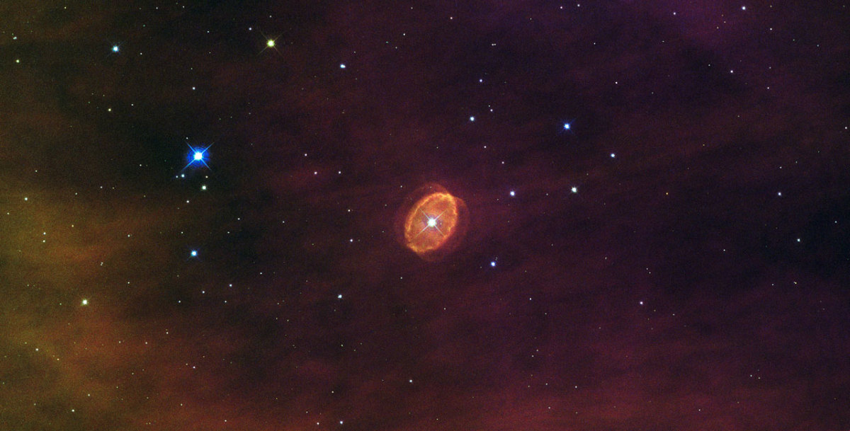 Nebula with a giant star at its centre