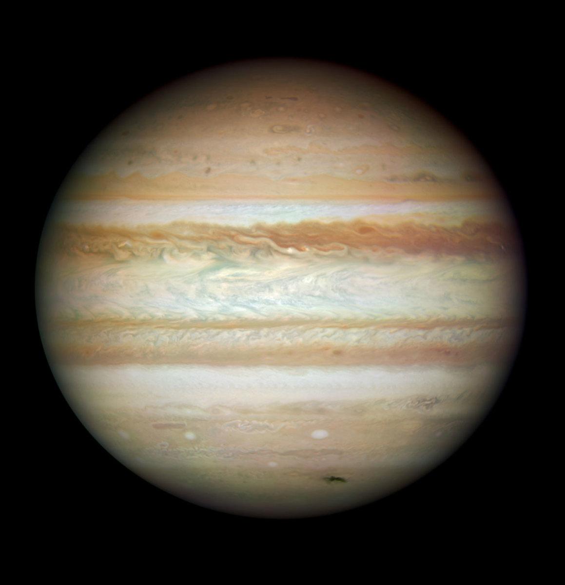 Natural-colour image of Jupiter