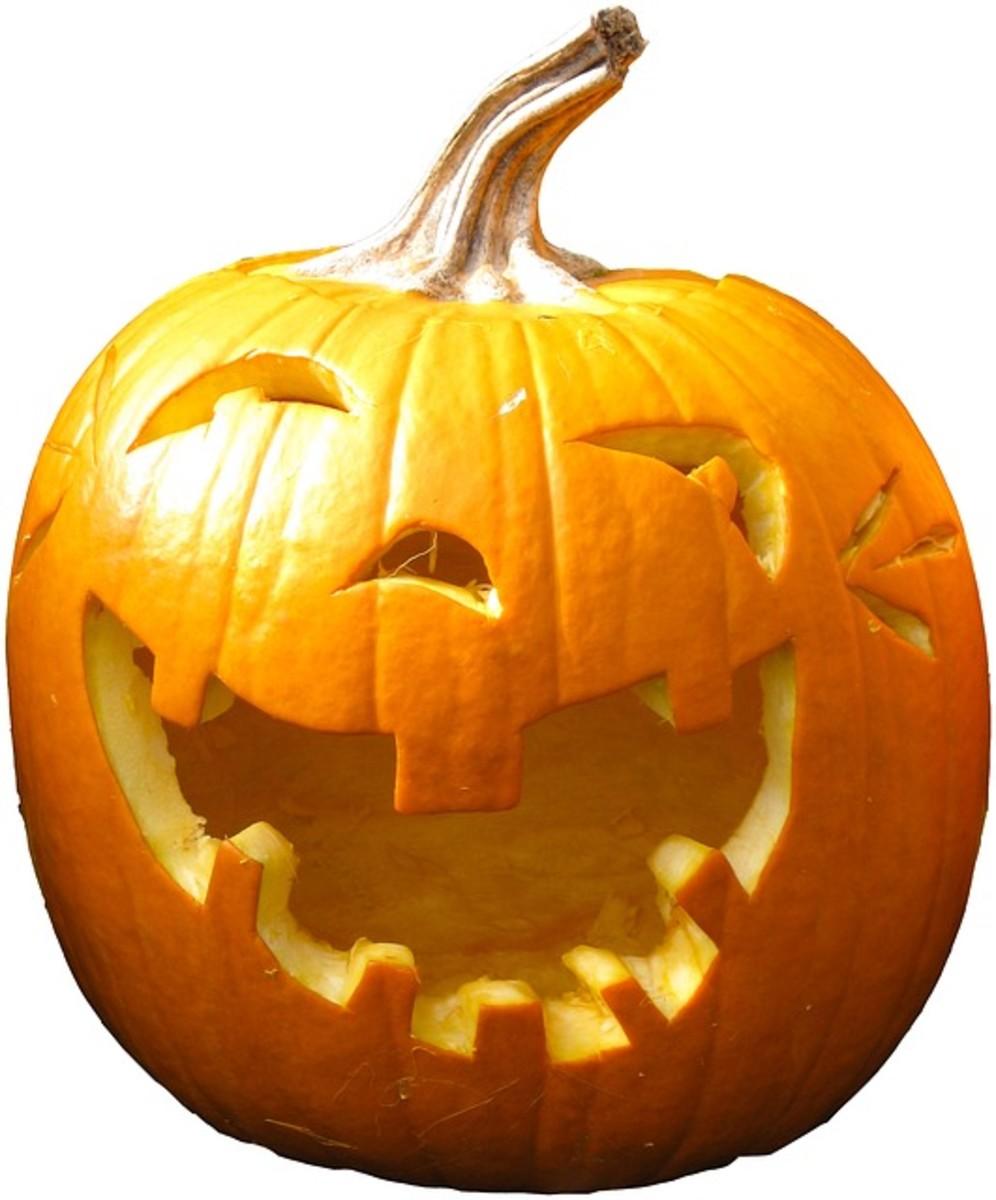 Halloween pumpkin jack-o-lantern.