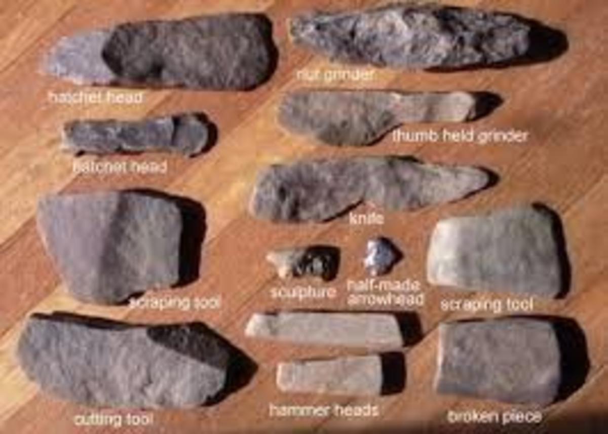 A few basic tools from the Stone Age