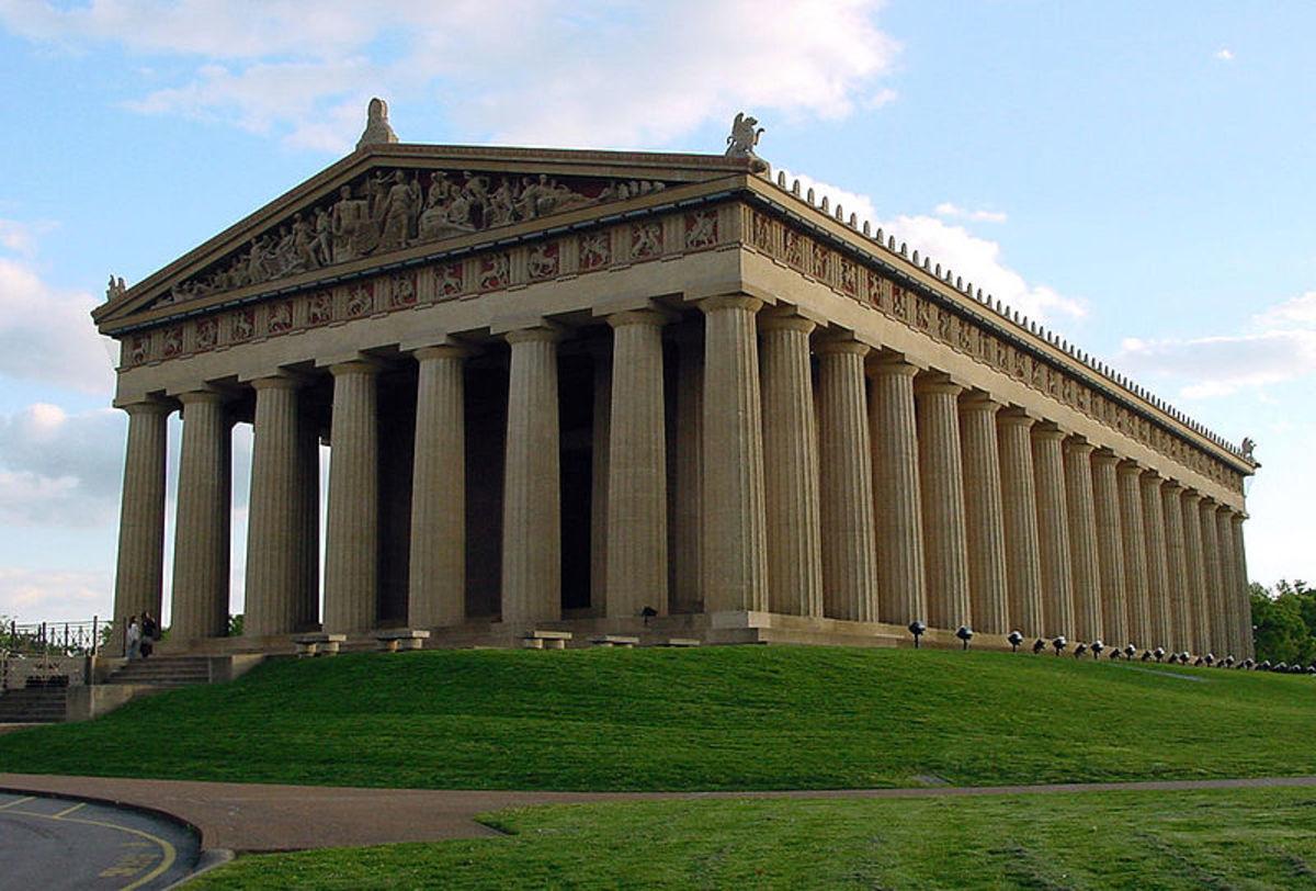 Replica of the Parthenon in Nashville, Tennessee