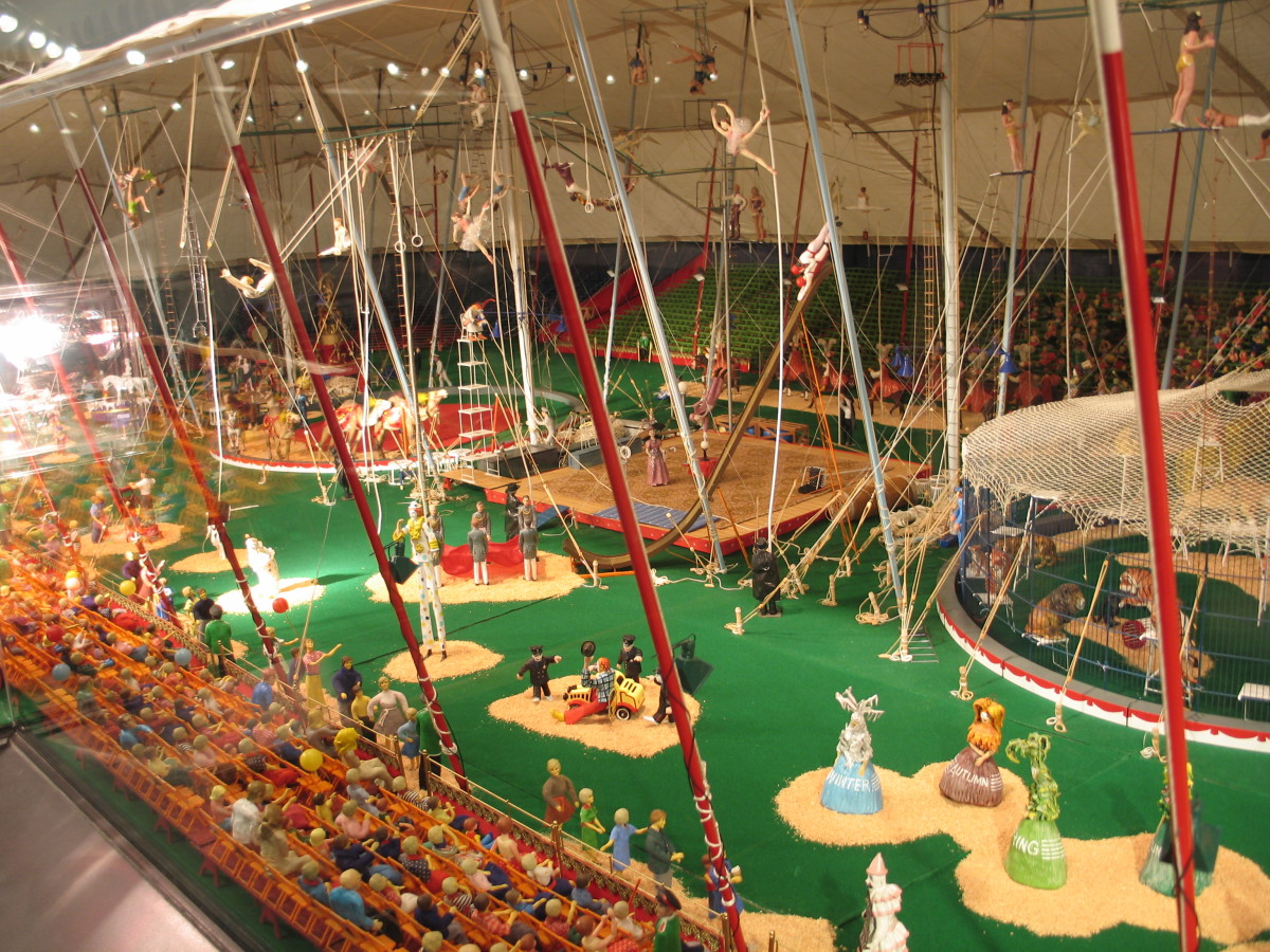 "Reproduction of the ""Howard Brothers Circus"" in the museum is a representation of the Ringling Bros. & Barnum and Bailey Circus."