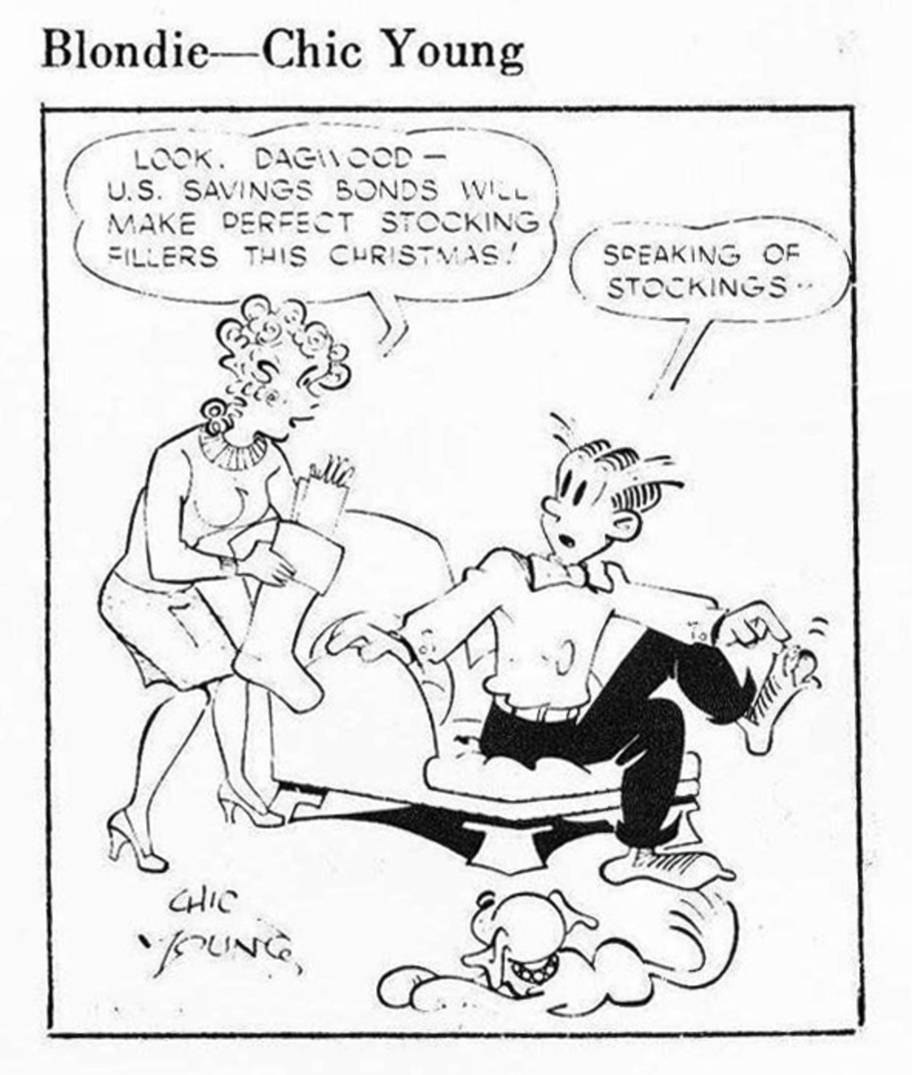 Look, Dagwood - U.S. Savings Bonds Will Make Perfect Stocking Fillers  This Christmas! (AD 1971)