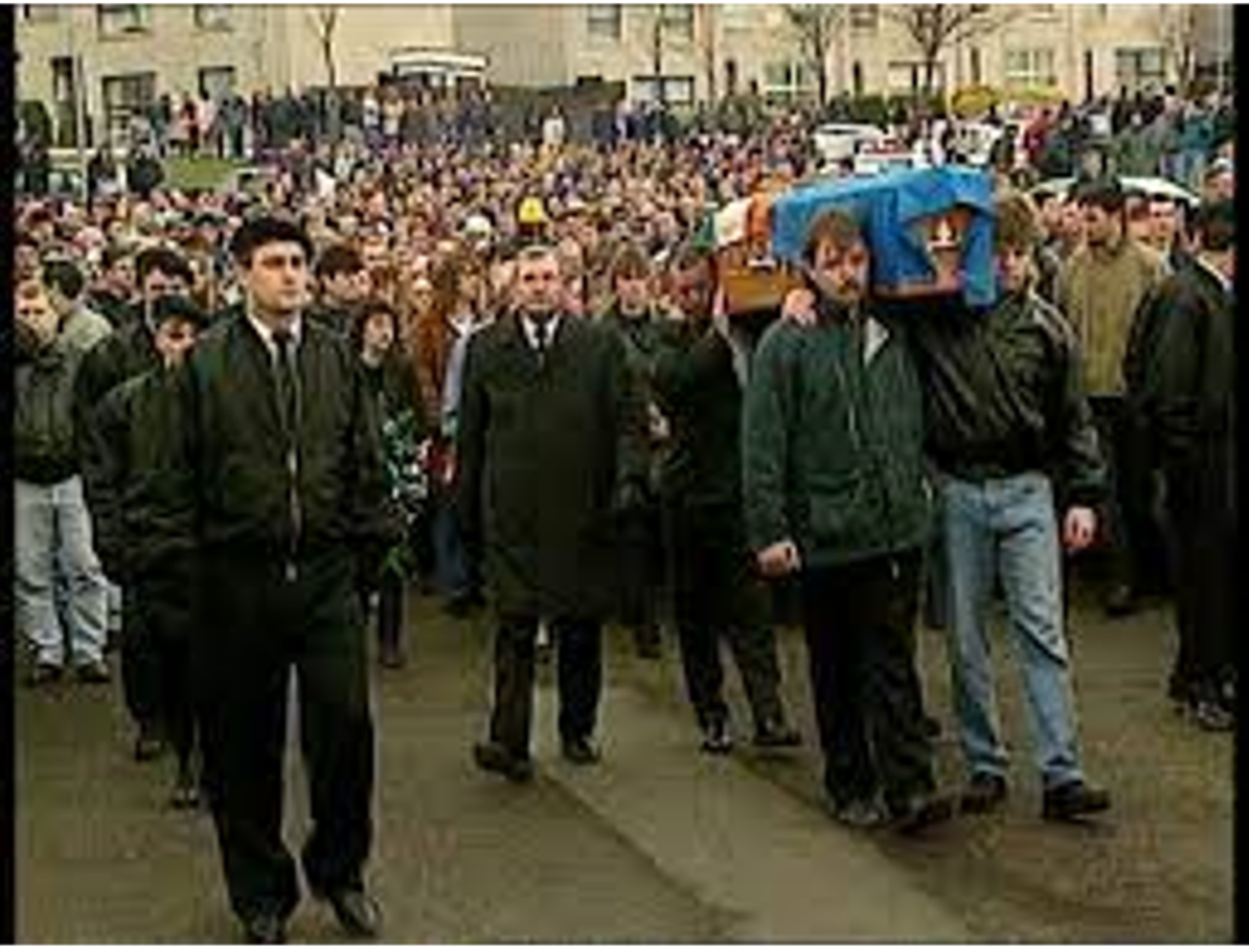 The Funeral of Hino Gallagher attacked by the RUC and British Army