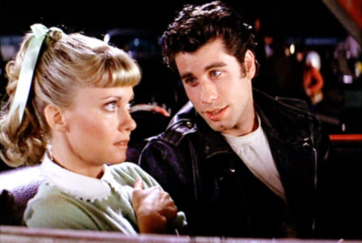 Hopelessly devoted to each other: young lovers Sandy Olsson (Olivia Newton-John) and Danny Zuko (John Travolta)