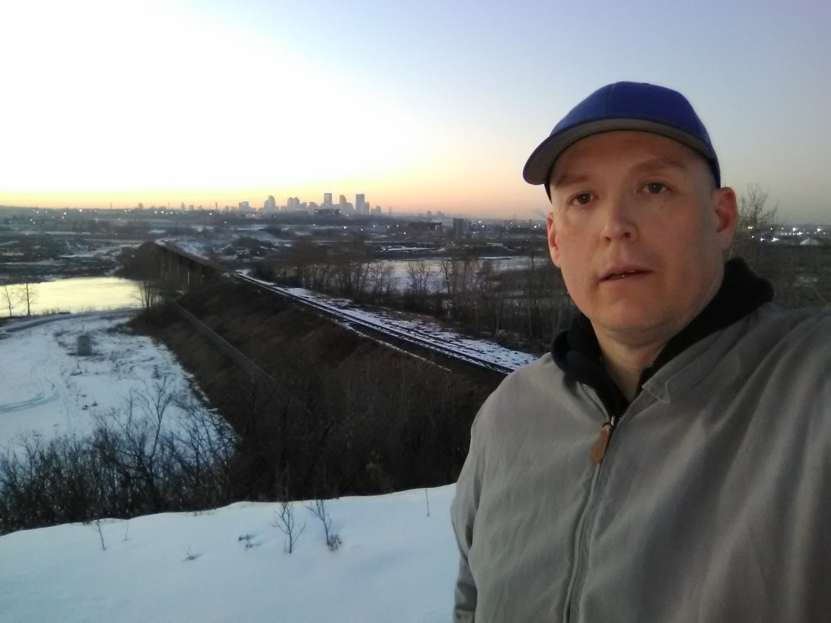 A wintertime visit to Beaver Dam Flats Park. The Calgary skyline is in the background.