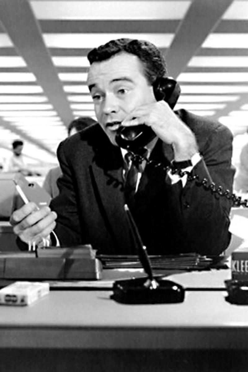 Jack Lemmon as C.C Baxter