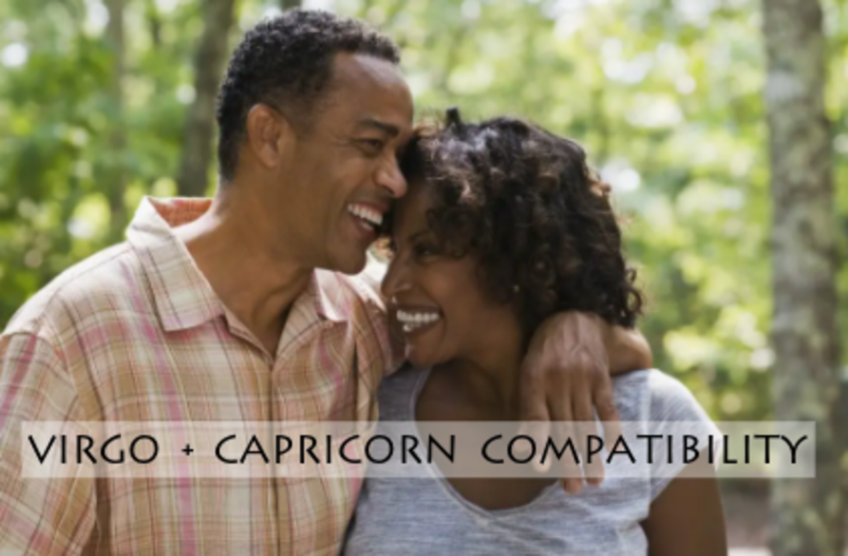 Virgo and Capricorn share similar values. This is a couple that works extremely well together for the long run. The partners share similar values, goals, and styles. They can get on the same wavelength with ease. They spend money in similar ways.