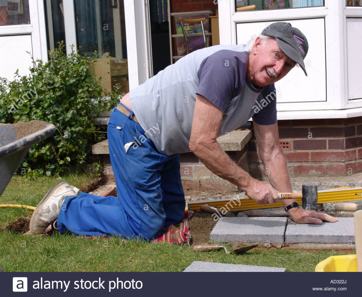 This old man working in the garden, could have been me, since I have been working as a bricklayer and laying pavements, half of my life, but before that I have been working in the farms, as you will see from my life story.