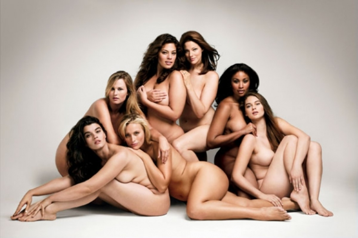 Group of Plus Size Models