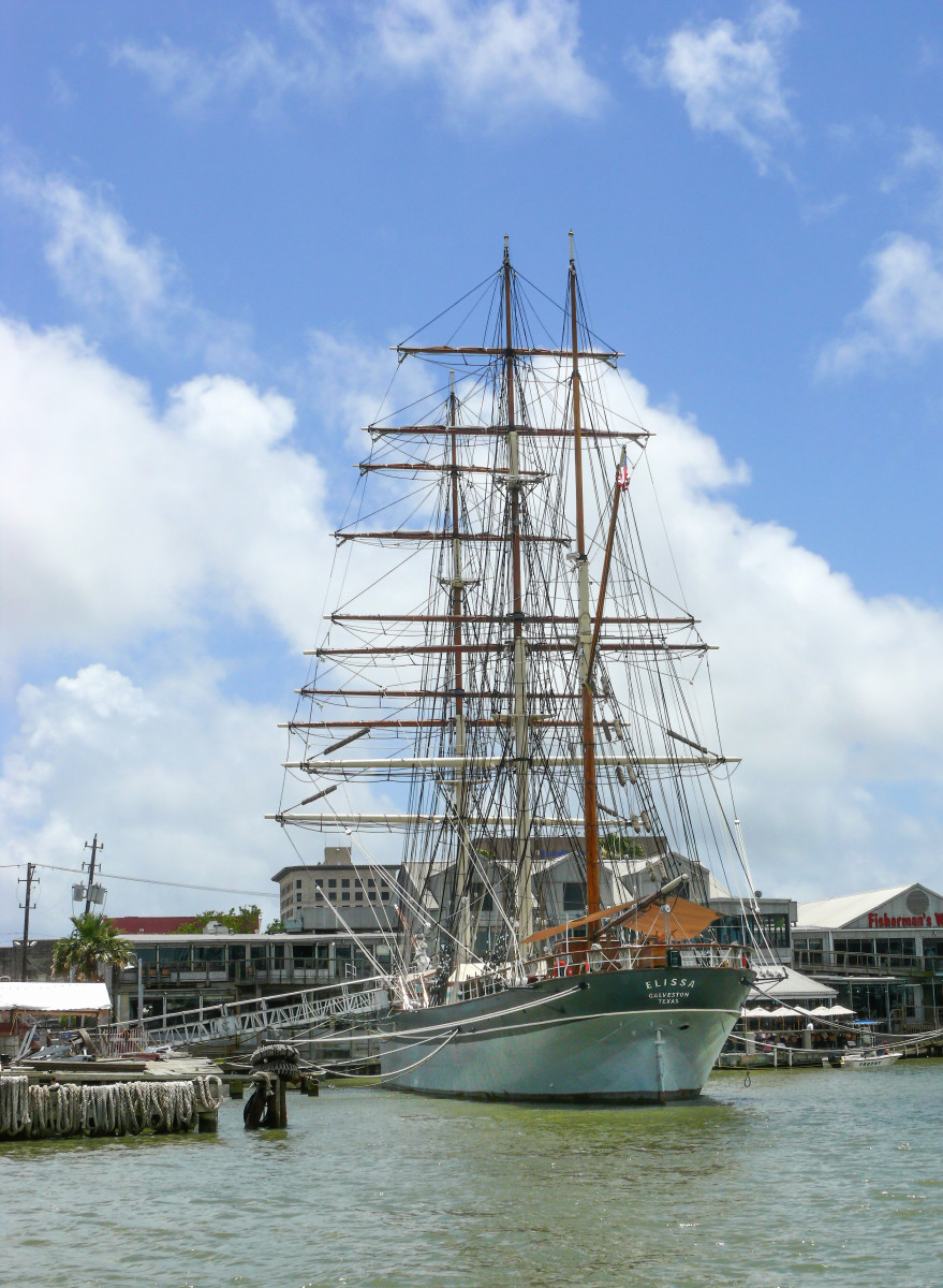 The Tall Ship Elissa (in Her moorings)