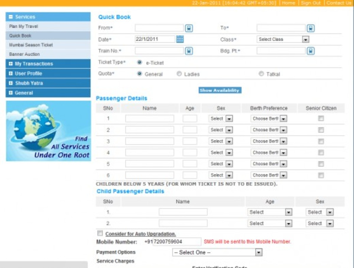 Tips to get tatkal ticket from railway site IRCTC