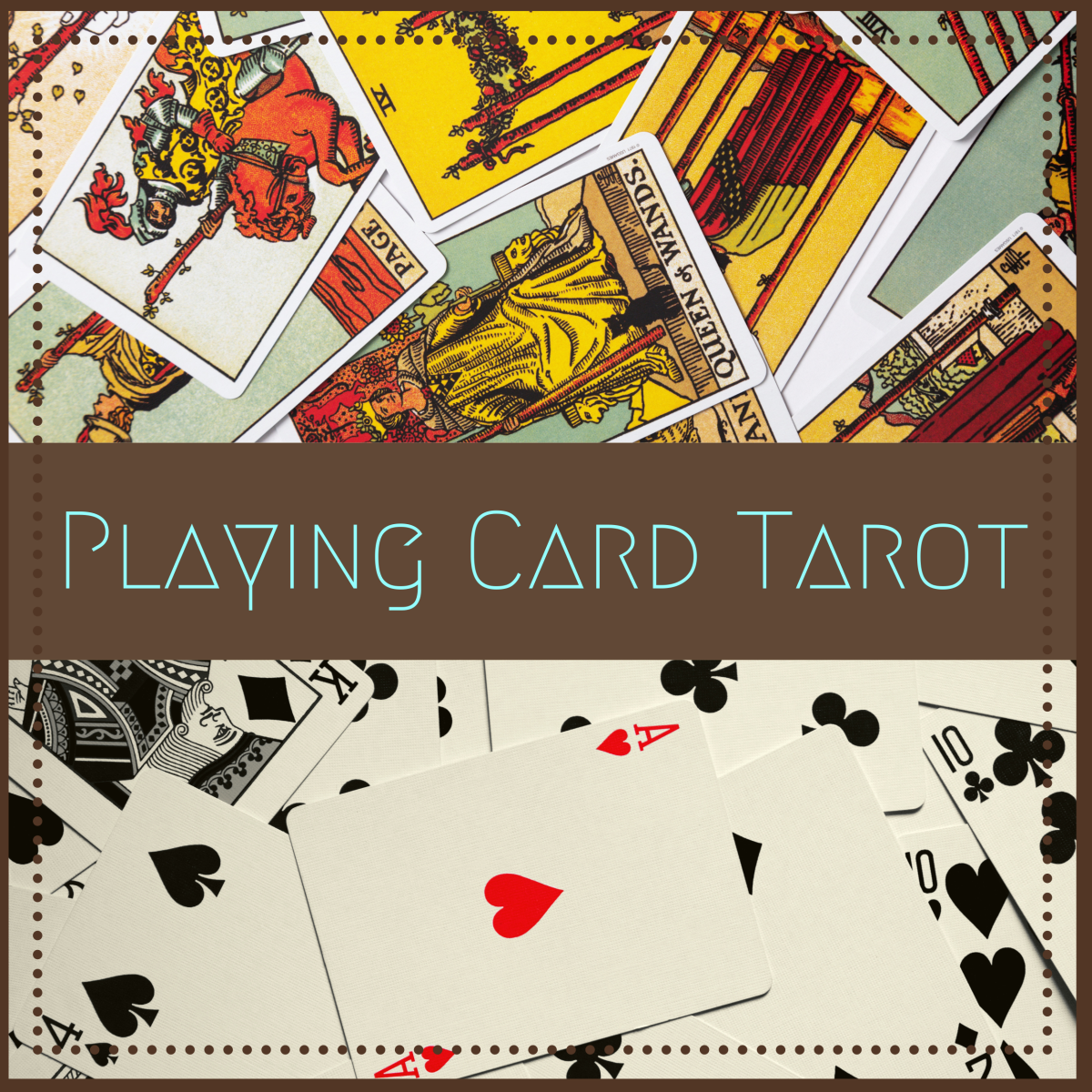 A list of meanings for when you're using playing cards to read tarot.