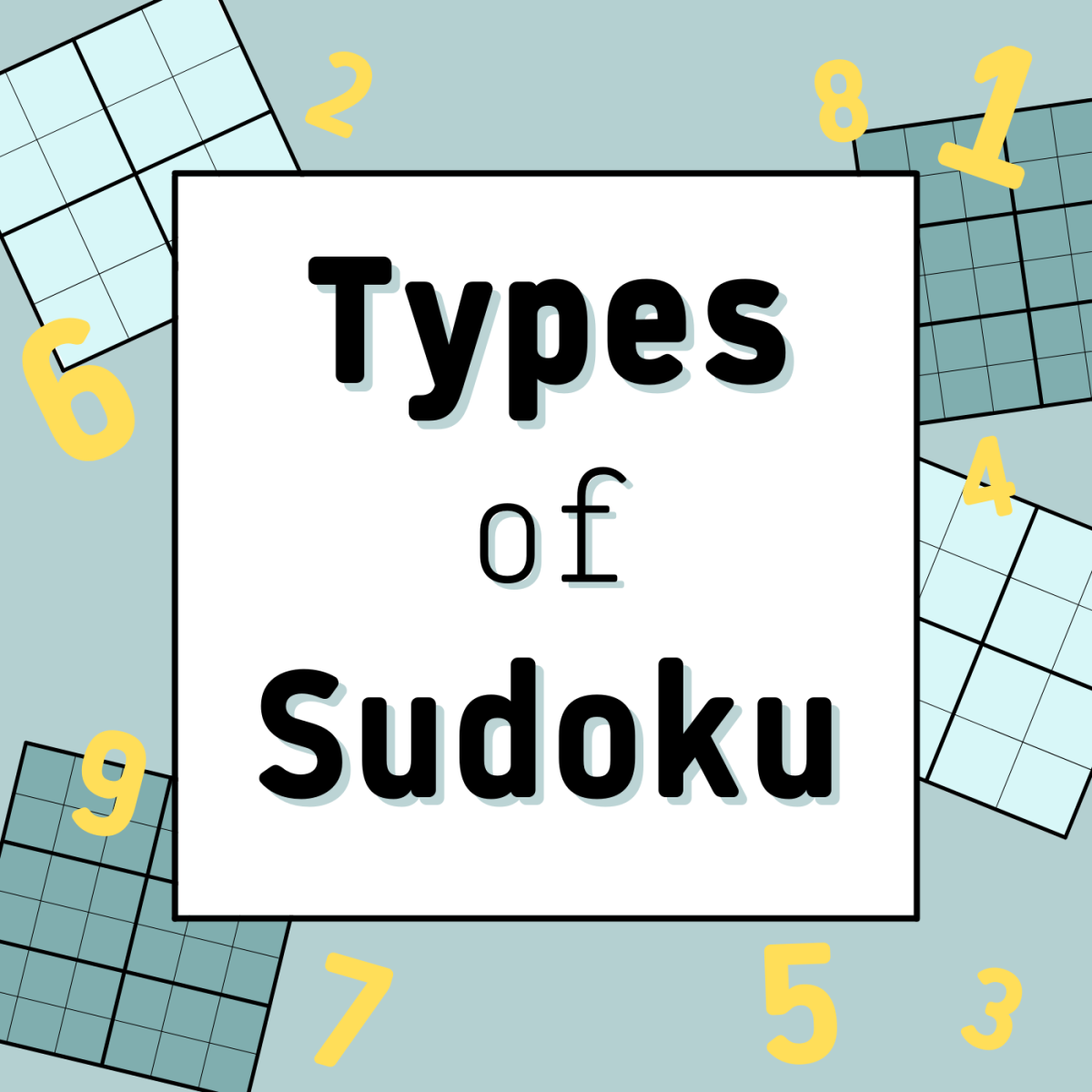 Are you tired of regular old 9x9-grid sudoku? Try one of these other variants!