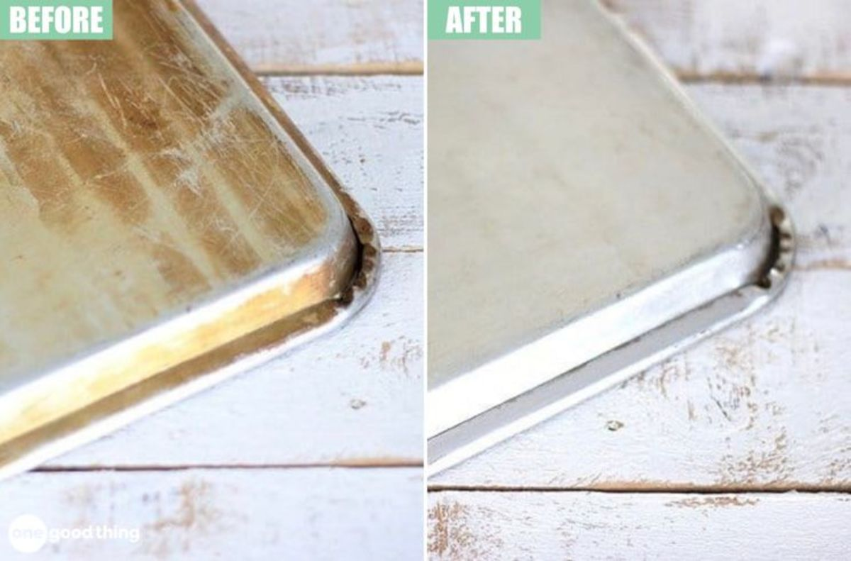 Clean burn marks off your baking sheets