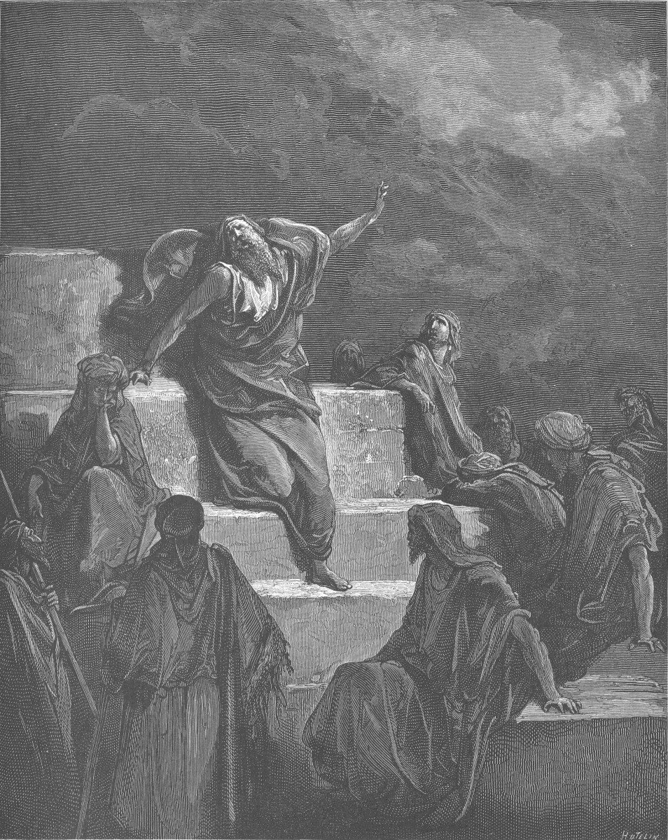 Gustave Dore's engraving of the Prophet Jeremiah as imagined by the artist.  Image courtesy Wikimedia Commons.
