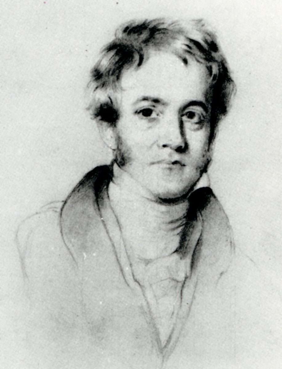Henry William Pickersgill's pencil portrait of Sir John Herschel as a young man.  Image courtesy Wikimedia Commons.
