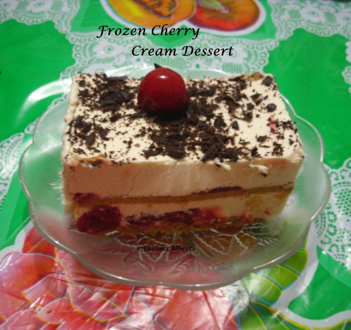 Frozen Cherry Cream Dessert Recipe