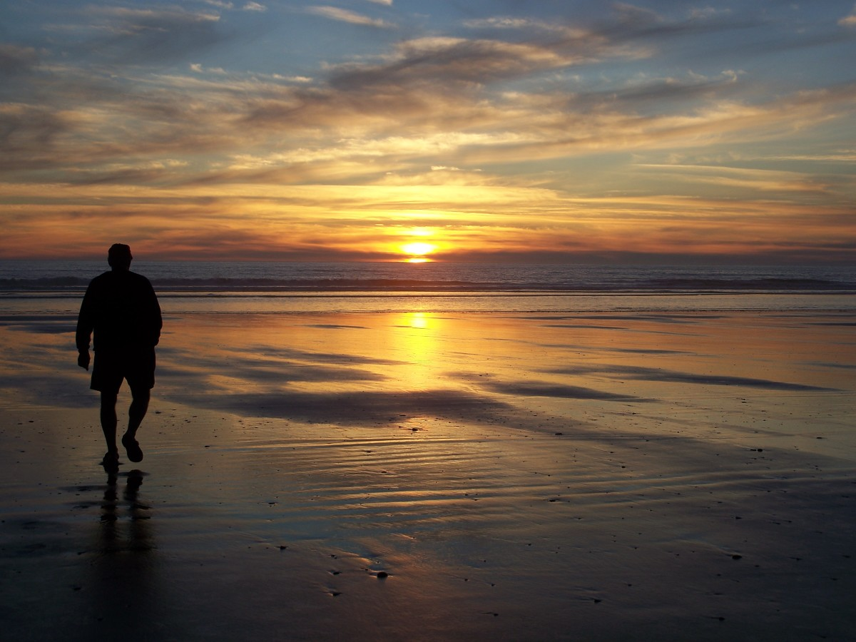 This is one of the beautiful sunsets we enjoyed while camping in one of the Olympic National Park's coastal campgrounds.