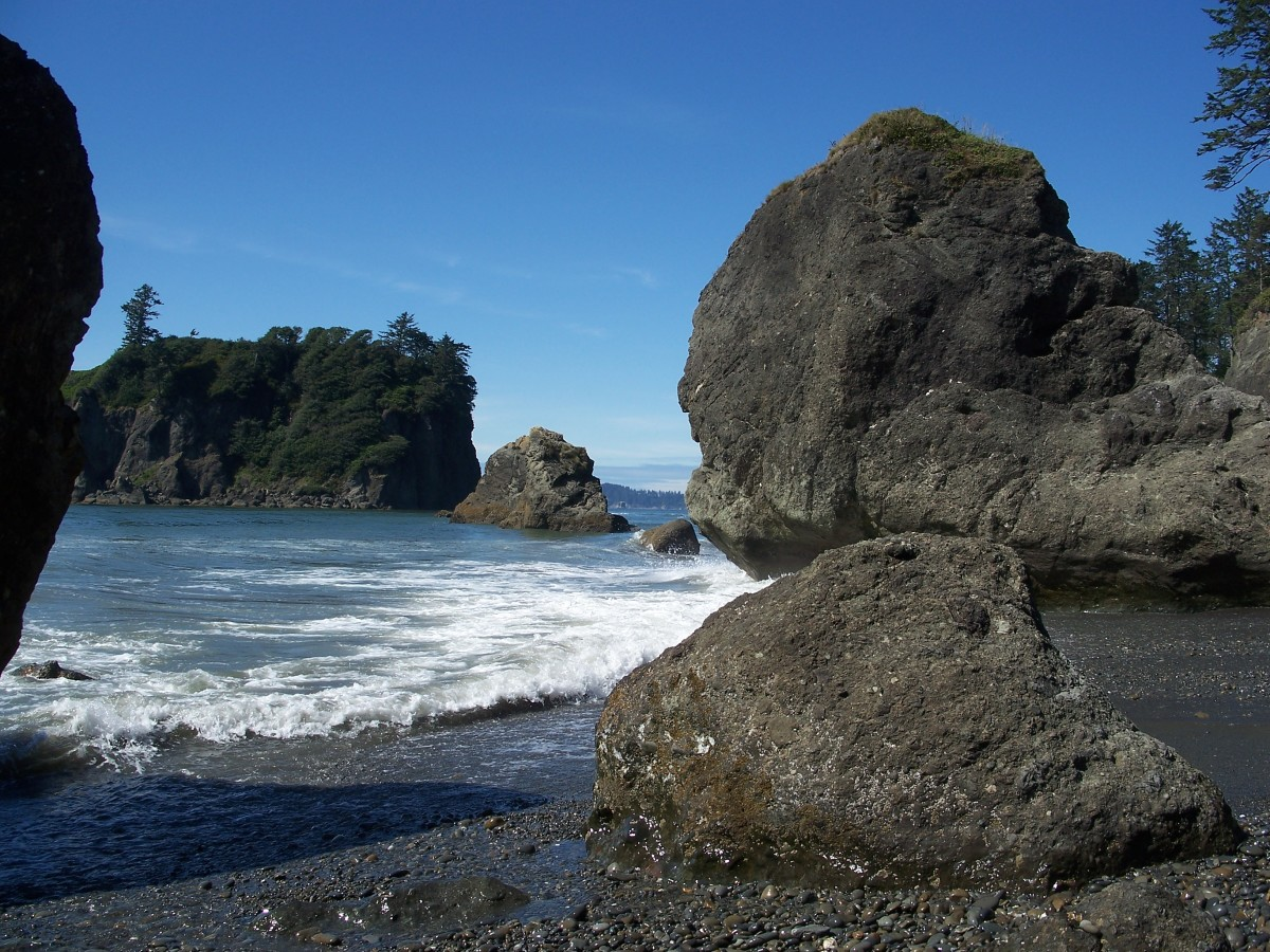 Rocky coast of Olympic National Park.  Washington.